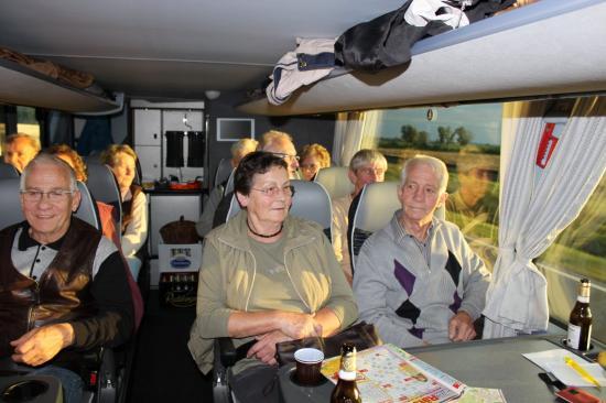 Auf der Fahrt im Bus